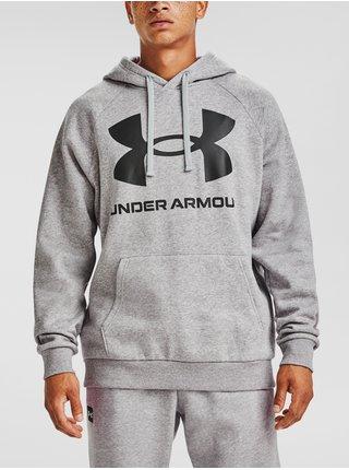 Mikina Under Armour Rival Fleece Big Logo HD - šedá