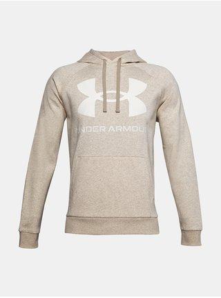 Mikina Under Armour UA Rival Fleece Big Logo HD -světle hnědá