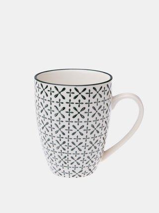 Bílý vzorovaný keramický hrnek Dakls 350 ml
