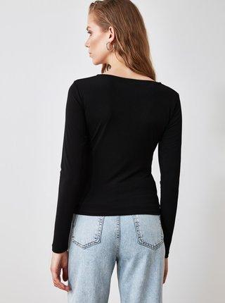 Černé dámské tričko Trendyol