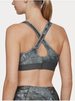 Podprsenka Under Armour Mid Crossback Printed Bra - šedá