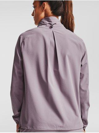 Bunda Under Armour Recover Woven Jacket - svetlofialová