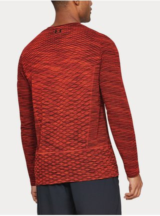 Tričko Under Armour Vanish Seamless LS Novelty - cihlová