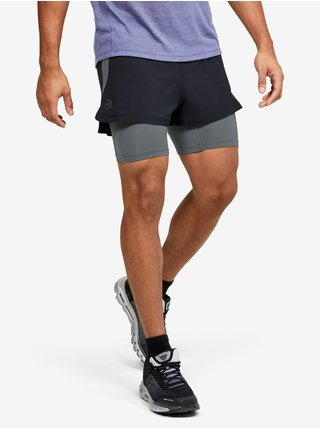 Šortky Under Armour M UA RUSH Run 2-in-1 Short - Čierná