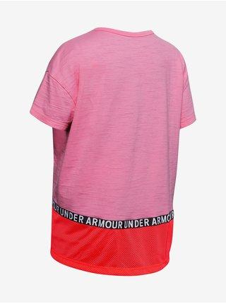 Tričko Under Armour Charged Cotton Taped SS T-Shirt - růžová