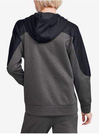 Mikina Under Armour Recover Knit FZ Hoodie - šedá