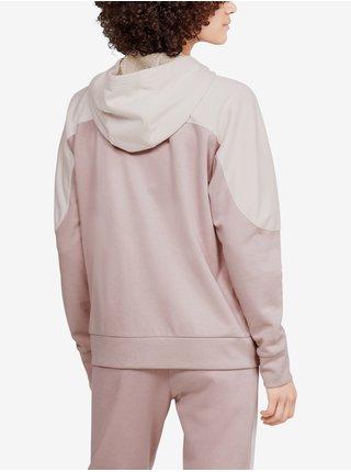Mikina Under Armour Recover Knit FZ Hoodie - růžová