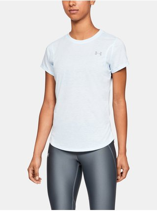 Tričko Under Armour Streaker 2.0 Heather Short Sleeve - bílá