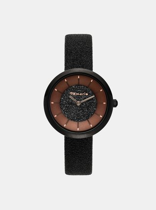 Dámske hodinky s čiernym remienkom Tamaris