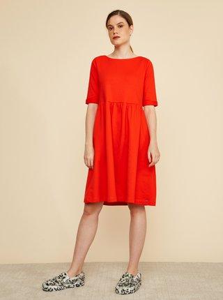 Červené šaty s vreckami ZOOT Baseline Monika 2