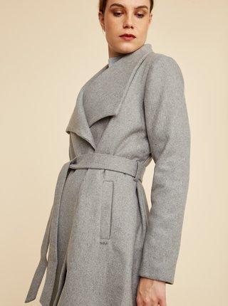 Šedý dámský kabát s příměsí vlny ZOOT Timea