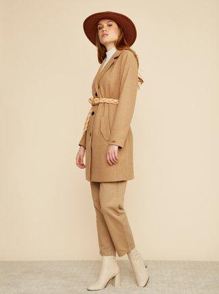 Béžový dámsky kabát s prímesou vlny ZOOT Baseline Klara