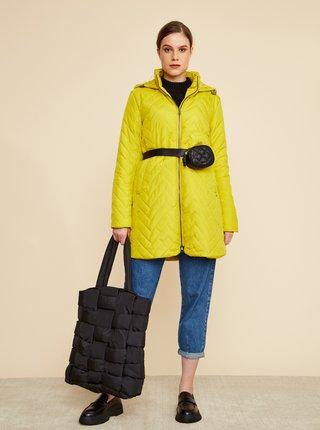 Zelenožlutý dámský prošívaný kabát ZOOT Baseline Molly