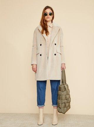 Béžový dámsky zimný kabát umelého kožúšku ZOOT Stephany