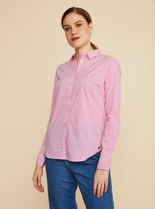 Ružová dámska pruhovaná košeľa ZOOT Baseline Chloe