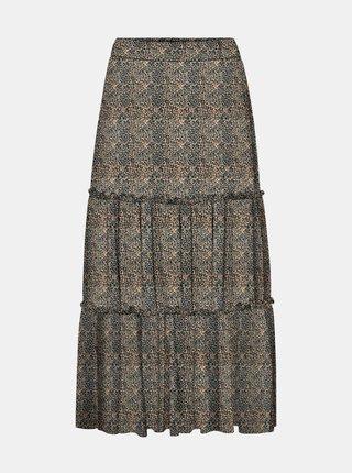 Béžová sukňa s leopardím vzorom Noisy May Lesly