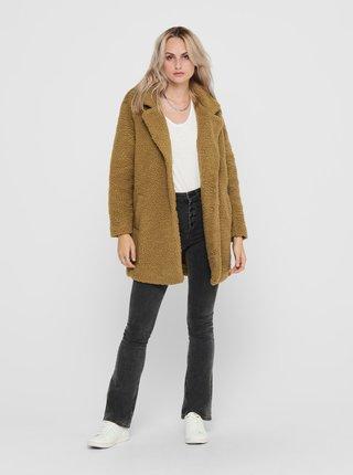 Hnědý zimní kabát ONLY