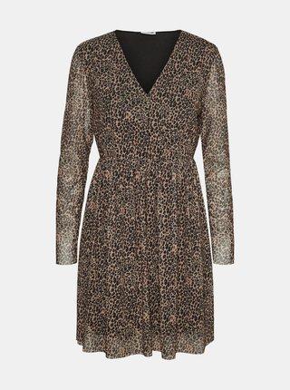 Béžové šaty s leopardím vzorom Noisy May Lesly