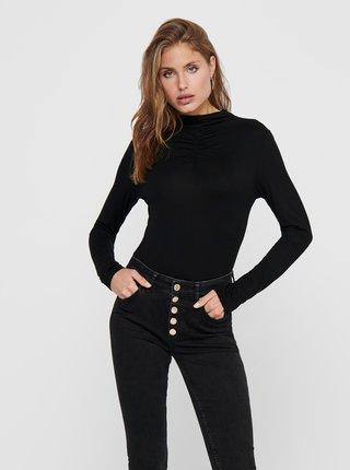 Černé tričko se stojáčkem ONLY