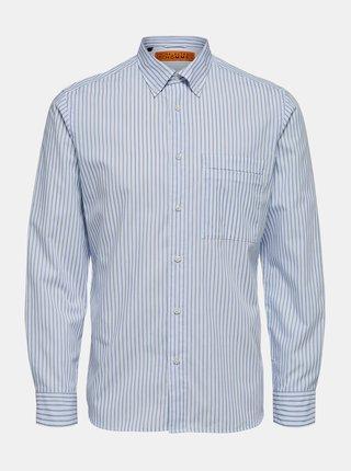 Modro-biela košeľa Selected Homme