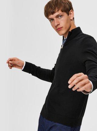 Čierny sveter na zips Selected Homme