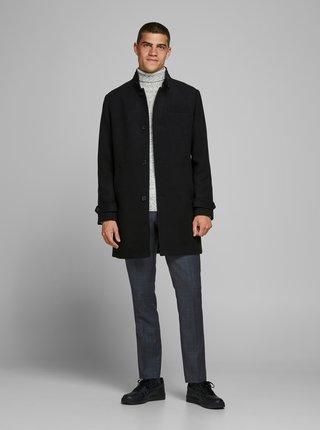 Černý zimní kabát s příměsí vlny  Jack & Jones