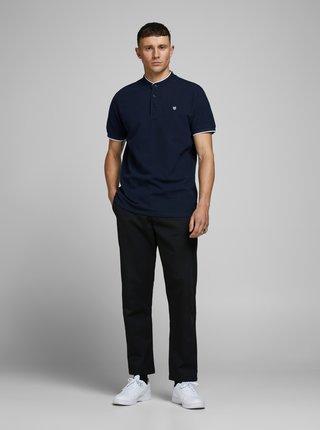 Modré polo tričko se stojáčkem Jack & Jones