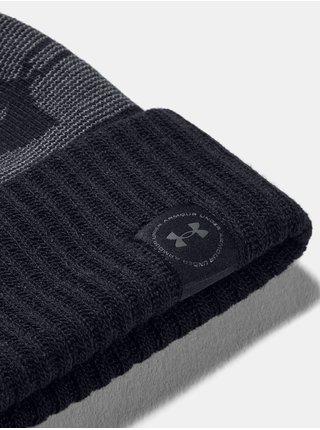 Čiapka Under Armour UA Big Logo Pom Beanie - Čierná