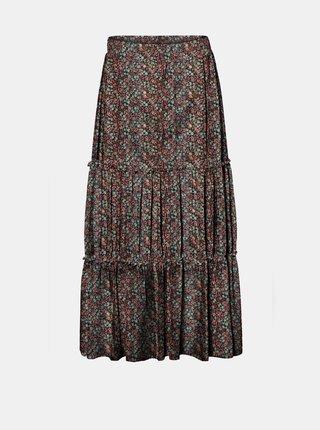 Vínová květovaná sukně Noisy May Lesly
