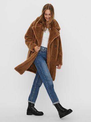 Hnědý kabát VERO MODA Lynne