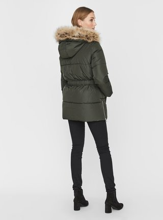 Kaki zimná prešívaná bunda VERO MODA Finley