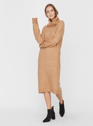 Béžové svetrové šaty VERO MODA Gaiva