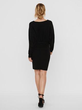 Čierne svetrové šaty VERO MODA Rem