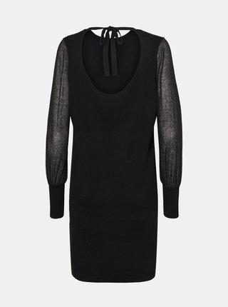 Čierne svetrové šaty VERO MODA Bellissimo
