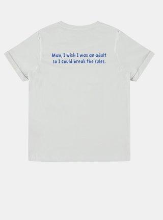 Bílé klučičí tričko s potiskem name it