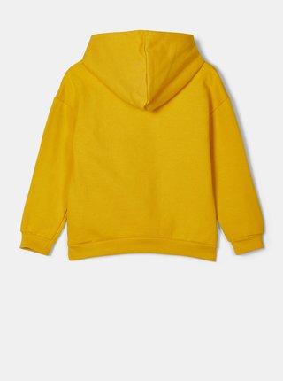 Žlutá holčičí mikina s kapucí name it