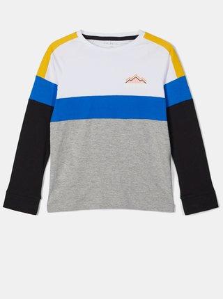 Bílo-šedé klučičí tričko name it
