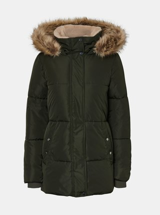 Kaki zimná prešívaná bunda VERO MODA CURVE Finley