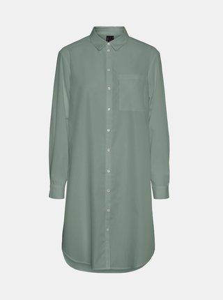 Zelená dlouhá košile VERO MODA Hella