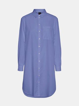 Modrá dlhá košeľa VERO MODA Hella