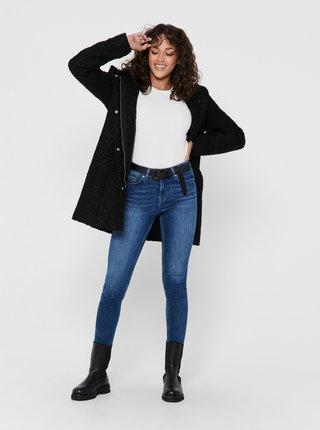 Černý zimní kabát s kapucí Jacqueline de Yong