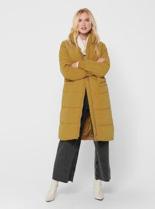 Žlutý zimní prošívaný kabát Jacqueline de Yong