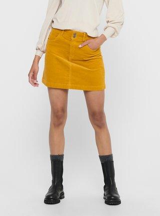 Žlutá manšestrová sukně Jacqueline de Yong