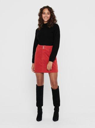Červená menčestrová sukňa Jacqueline de Yong