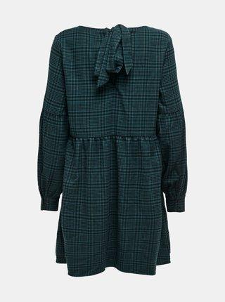 Zelené volné kostkované šaty Jacqueline de Yong