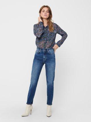 Modrá květovaná průsvitná košile Jacqueline de Yong