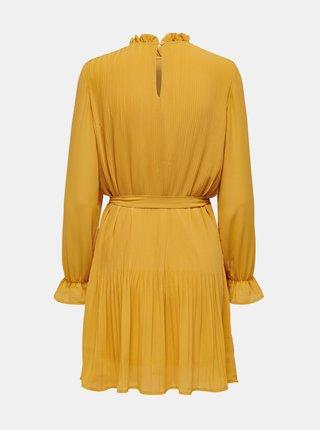Žlté šaty so stojáčikom Jacqueline de Yong
