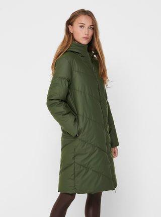 Zelený zimní prošívaný kabát Jacqueline de Yong