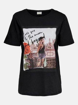 Černé tričko s potiskem Jacqueline de Yong