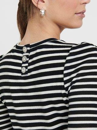Bílo-černé pruhované tričko Jacqueline de Yong
